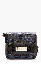 PROENZA SCHOULER Navy & Black PS11 Tiny Box Check Shoulder Bag for women