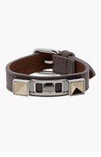 PROENZA SCHOULER Grey Studded Leather Bracelet for women
