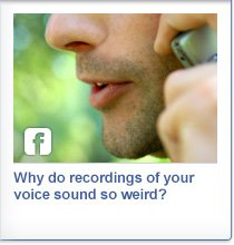 Recordings your own voice