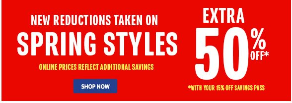 Spring Styles - New Reductions