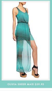Olivia Sheer Maxi - $39.95