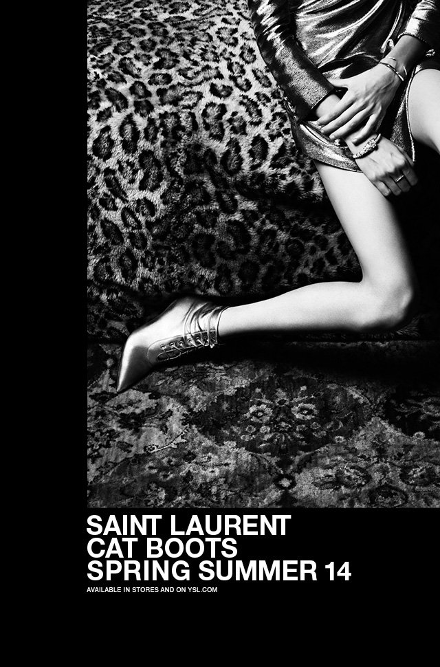 Saint Laurent Cat Boots / Spring Summer 14 Shoe Collection