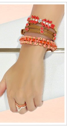 Coral Stacked Wrist