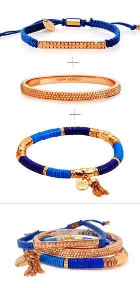 Blue Stacked Wrist