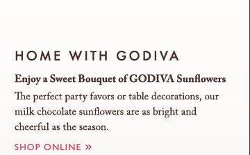 HOME WITH GODIVA | Enjoy a Sweet Bouquet of GODIVA Sunflowers