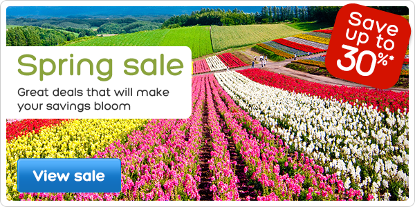 Spring sale – save up to 30%*