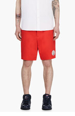 ADIDAS ORIGINALS BY O.C. Red Baseball Stitch Chino Shorts for men