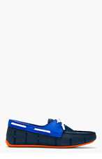 SWIMS Navy Rubber & Mesh Loafers for men
