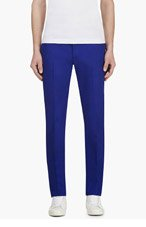 CALVIN KLEIN COLLECTION SSENSE EXCLUSIVE Royal Blue Cotton & neoprene trousers for men