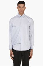 J.W.ANDERSON Blue Long Sleeve Button Down Sash Shirt for men