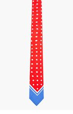 BURBERRY PRORSUM Red Polka Dot Tie for men