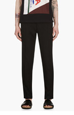 RAF SIMONS Black Perforated Trousers for men