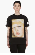 HOOD BY AIR Black DUNCE t-shirt for men