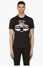 GIVENCHY Black Short Sleeve Statement T-Shirt for men