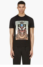 GIVENCHY Black Short Sleeve Photoprint T-Shirt for men