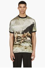A.SAUVAGE Black & Olive Carrion Collage t-shirt for men