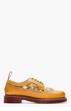 DR. MARTENS Tan Leather Shreeves Longwing Brogues for men