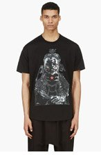 GIVENCHY Black WATER PRINT T-shirt for men