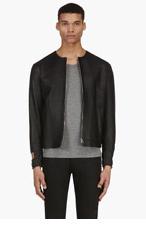 J.W.ANDERSON Black LEATHER Double-cuff JACKET for men