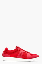 SWIMS Red Mesh & Rubber Luca Sneakers for men