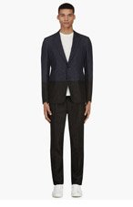 VALENTINO Blue Chambray Two-Tone Suit for men