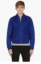 CALVIN KLEIN COLLECTION SSENSE EXCLUSIVE Blue Layered Mesh Jacket for men