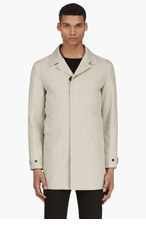 BURBERRY PRORSUM Beige Single-Breasted Trench Coat for men
