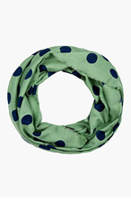BURBERRY PRORSUM Green Polka Dot Chashmere Blend Circle Scarf for men
