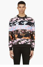 GIVENCHY Pink & Black Camo Flower mixed PRINT Sweater for men