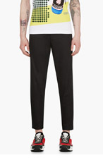 RAF SIMONS Black Metal Accent Trousers for men
