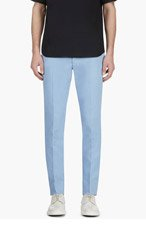 CALVIN KLEIN COLLECTION SSENSE EXCLUSIVE Blue Cotton & neoprene trousers for men