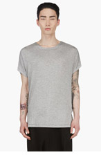 RAD BY RAD HOURANI Heather Grey & Navy Dual Face Unisex T-Shirt for men