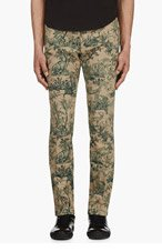 VALENTINO Tan & Green French Toile Trousers for men