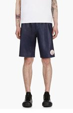 ADIDAS ORIGINALS BY O.C. Navy Lambskin Leather Logo Shorts for men