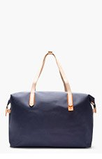 SWIMS Navy Canvas 48 Hour Carryall Bag for men