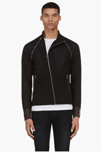 PAUL SMITH Black Mesh Back Removable Sleeve Jacket for men
