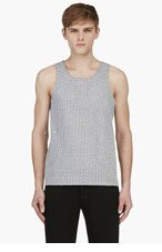 CALVIN KLEIN COLLECTION SSENSE EXCLUSIVE Heather Grey Perforated Tank Top for men