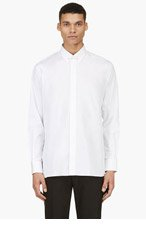 A.SAUVAGE White Pin Collar Shirt for men