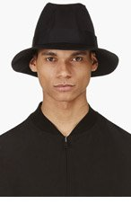 UNDERCOVER Black Three Panel Brimmed Canvas Hat for men