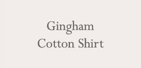 Gingham Cotton Shirt