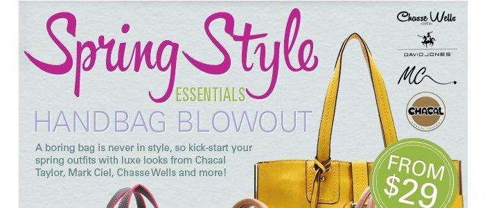 Spring Style Essentials: Brand-Name Handbag Blowout
