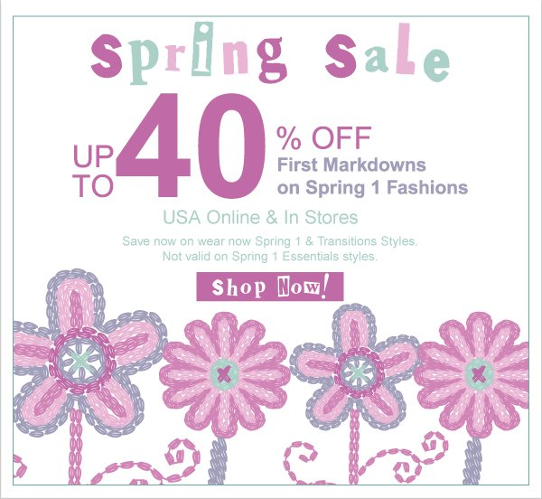 Up to 40% Off Spring Sale In Progress! Spring 1 Fashions Just Reduced