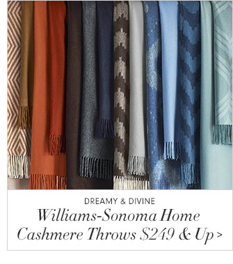 Dreamy & Divine - Williams-Sonoma Home - Cashmere Throws $249 & Up