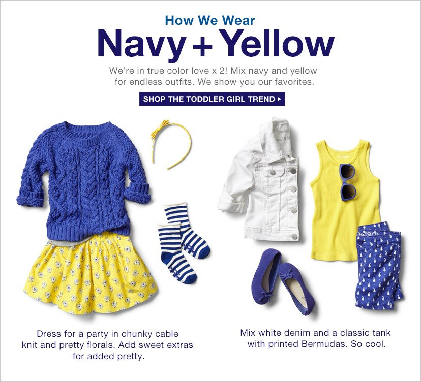 How We Wear | Navy + Yellow | SHOP THE TODDLER GIRL TREND