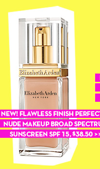 NEW! FLAWLESS FINISH PERFECTLY NUDE MAKEUP BROAD SPECTRUM SUNSCREEN SPF 15, $38.50.