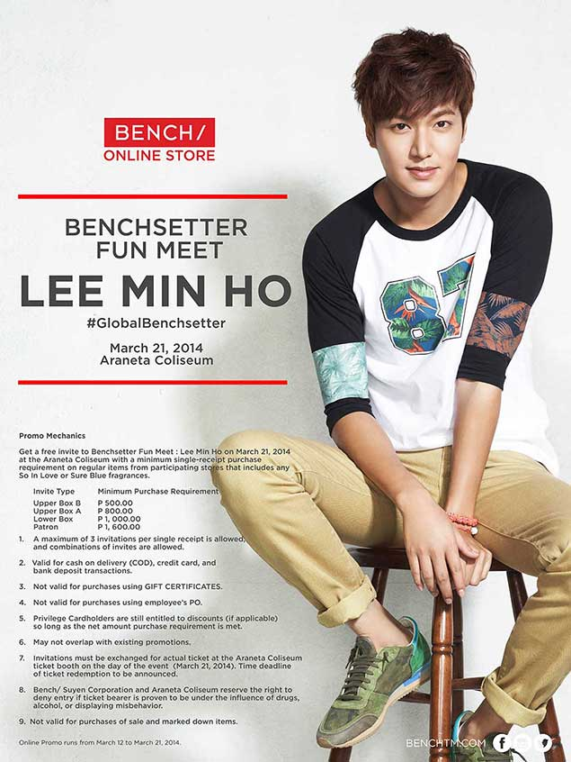 Lee Min Ho Fun Meet Tickets Now Available