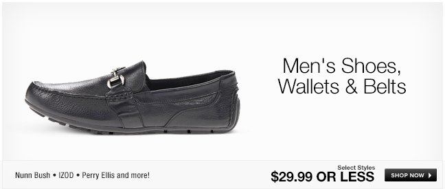 Mens Shoes, Wallets and Belts