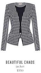 BEAUTIFUL CHAOS jacket - $550