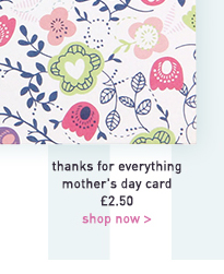 thanks for everything mother's day card