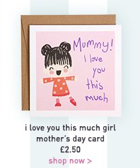 i love you this much girl mother's day card